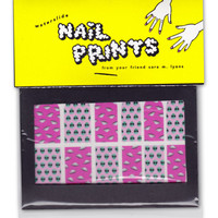 ALIENS & UFOS all-over nail prints