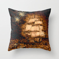 Peter Pan Throw Pillow by Red Lady Locks