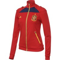 adidas Spain Soccer Women's Red Track Jacket