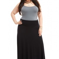 Plus Size Tanya Jersey Maxi Skirt | Fashion To Figure