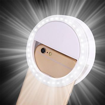 Selfie LED Ring Flash Light Portable