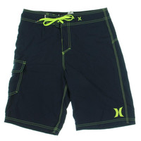 Hurley Mens Contrast Stitching Tie Front Board Shorts