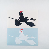 Studio Ghibli Kiki's Delivery Service 2-Toned KIKI Self Adhesive Vinyl Decal