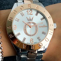 PANDORA Large o - set diamond watch men's fashion quartz watch 1