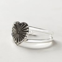 Heart Burst Cuff by Anthropologie Silver One Size Jewelry