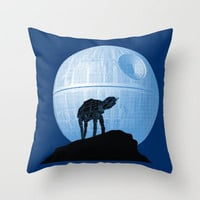Howl AT-AT the Moon Throw Pillow by Geekchic | Society6