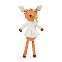 Hazel Village Organic Phoebe Fawn Doll with Crown