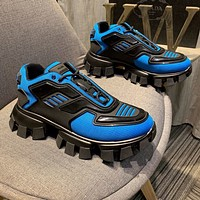 Prada Cloudbust Thunder  Men Fashion Boots fashionable Casual leather Breathable Sneakers Running Shoes