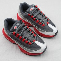 Nike Air Max 95 Child Shoes Grey White Red Toddler Kid Shoes - Best Deal Online