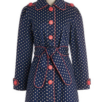 ModCloth Long Long Sleeve Darling and Dotted Coat