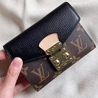 Hipgirls  Louis Vuitton LV Fashion New Monogram Print Leather Women Wallet Purse Handbag