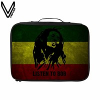 VEEVANV Bob Marley Travel Bag For Fans Best Gifts Large Travel Duffle Bags Waterproof Zipper Top Quality Material Travel Totes
