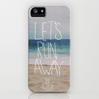 Let's Run Away | Sandy Beach, Hawaii iPhone & iPod Case by Leah Flores Designs