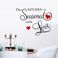 """This Kitchen Is Seasoned With Love"" Wall Art"