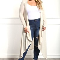 Best On The Block Plus Size Cardigan Tops+ GS-LOVE