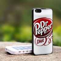 Dr pepper Diet - For iPhone 4,4S Black Case Cover