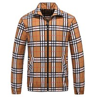 Boys & Men Burberry Fashion Casual Cardigan Jacket Coat