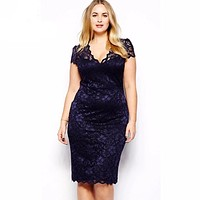 Women Summer Bodycon Dress Plus Size