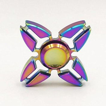 Rainbow Fidget Hand Spinner Stainless Steel Bearing ADHD Focus Anxiety Relief Toy