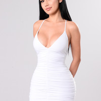 Simple Sweetness Dress - White