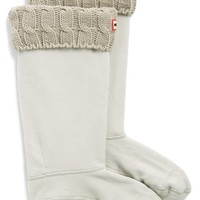 Women's Hunter Original Tall Cable Knit Cuff Welly Socks,