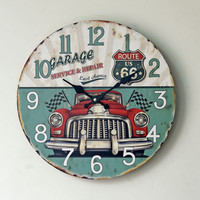 Vintage Quiet Weathered Wall Sticker Clock [4914940996]