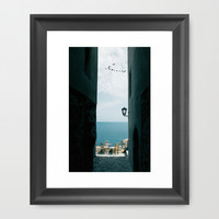 The View Framed Art Print by SensualPatterns