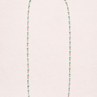 TURQUOISE BEAD AND GOLD NECKLACE