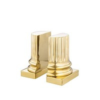 Gold Bookends set of 2| Eichholtz Pillar