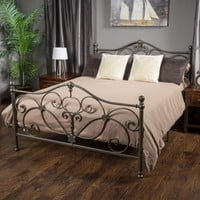 Denise Austin Home San Luis King Champagne Iron Bed