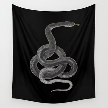 Snake tattoo_gold Wall Tapestry by minher36