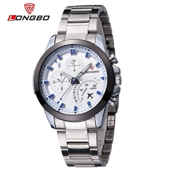 Military Men Stainless Steel Band Sports Quartz Watches Dial Clock For Men Dynamic Dial Watch