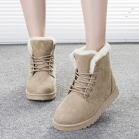 2016 Newest European and American style women snow boots Martin boots classic woman cotton boot  Six color solid available DT472