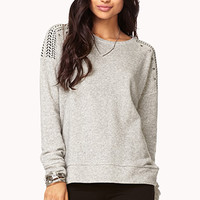 Military-Inspired Studded Pullover