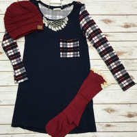 Passion for Plaid: Navy