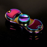 Rainbow Fidget Hand Spinner Metal Finger Spiner Edc Toy for Aults Stress Relief Multicolor Color