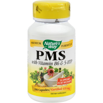 Nature's Way Pms With Vitamin B6 And 5-htp - 100 Capsules