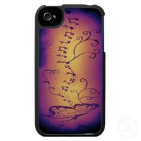 Music Butterfly Iphone 4 Cases from Zazzle.com