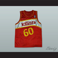 Wiz Khalifa 60 Taylor Gang Red Basketball Jersey with Patch