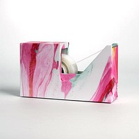 Marble Tape Dispenser in Pink