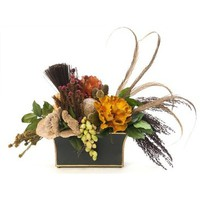 Fosters Point Vase With Queen Flower, Feather, Tortum