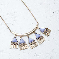 Faux Stone Triangle Charms Necklace