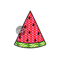 Watermelon Car Decal Bumper Sticker : Colorful Geometric Tribal Pattern Summer Laptop Decal Pink Red Green