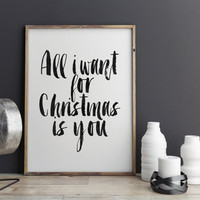 CHRISTMAS Gift Idea,CHRISTMAS Poster,CHRISTMAS Decor,Home Wall Art,Gift For Girlfriend,Gift For Him,Gift For Boyfriend,Wall Art,Typography