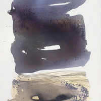 Original Art - Abstract Watercolor, Black and White, Modern Landscape, Large Watercolor - Contemporary Art / Minimal Painting
