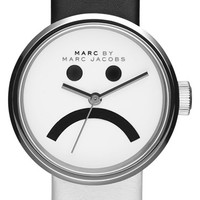 Women's MARC BY MARC JACOBS 'Peggy' Two-Tone Leather Strap Watch, 26mm