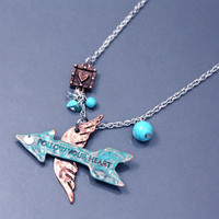 Arrow with Wings Necklace