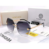 Versace 2019 new personality frameless gradient polarized sunglasses #1