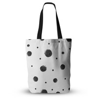"""Chelsea Victoria """"Black Dots"""" Pattern Abstract Everything Tote Bag"""