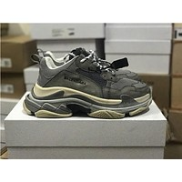 Balenciaga Triple S Trainers Carbon Grey Sneakers 35-44